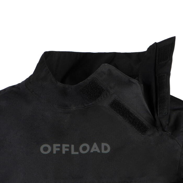 Trainingsshirt Rugby R500 wasserdicht Kinder schwarz