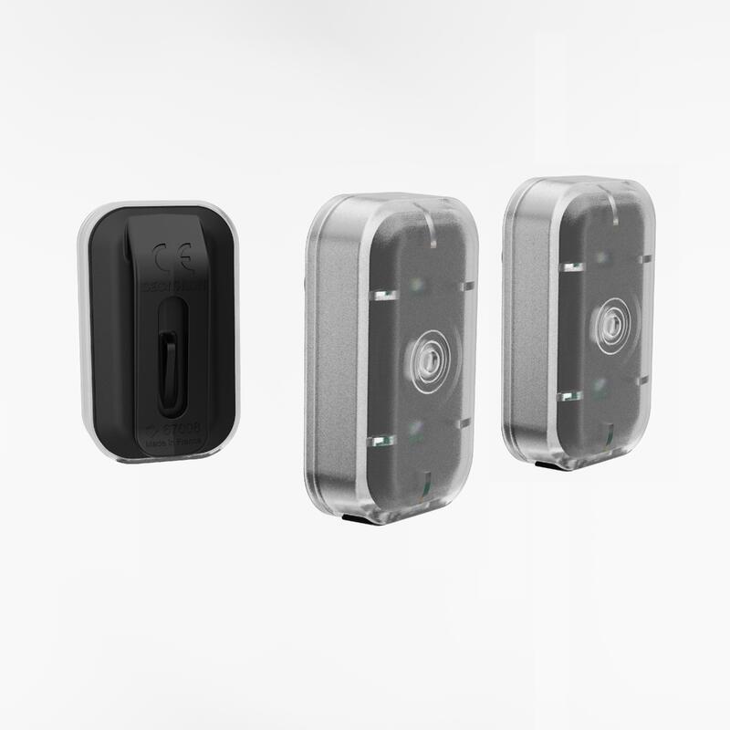 KIT ECLAIRAGE VELO LED ST 500 AVANT/ARRIERE NOIR USB.