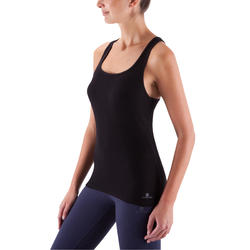 500 Women's Gentle Gym & Pilates Tank Top - Black