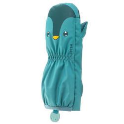 兒童滑雪防水保暖 Lugiklip 手套 - 藍綠 WED'ZE