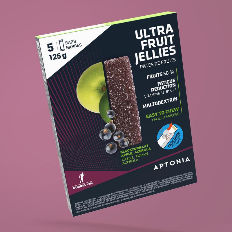 FRUIT JELLIES ENERGIE ZWARTE BES/APPEL/ACEROLA 5X 25 G