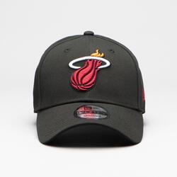Boné de Basquetebol para Adulto Miami Heat Preto.