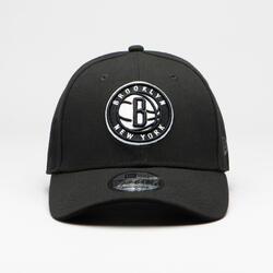 Basketbalpet voor volwassenen Brooklyn Nets zwart