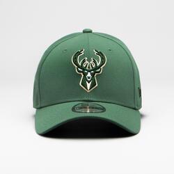 Casquette de basketball pour adulte des Milwaukee Bucks verte
