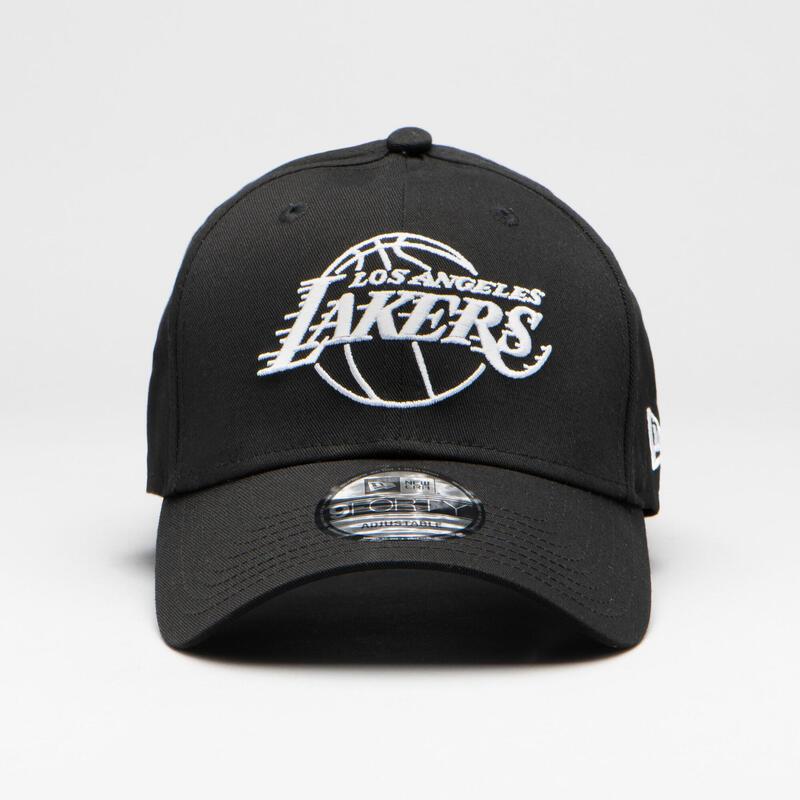 Casquette de basketball pour adulte des Los Angeles Lakers noire.