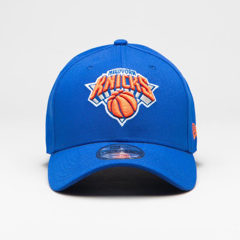 Casquette de basketball NBA pour adulte des Knicks bleu orange.