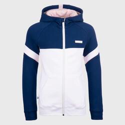兒童款籃球外套J500 - 海軍藍配白色