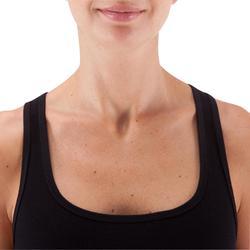 Camiseta Sin Mangas Tirantes Gimnasia Pilates Domyos 500 Mujer Negro