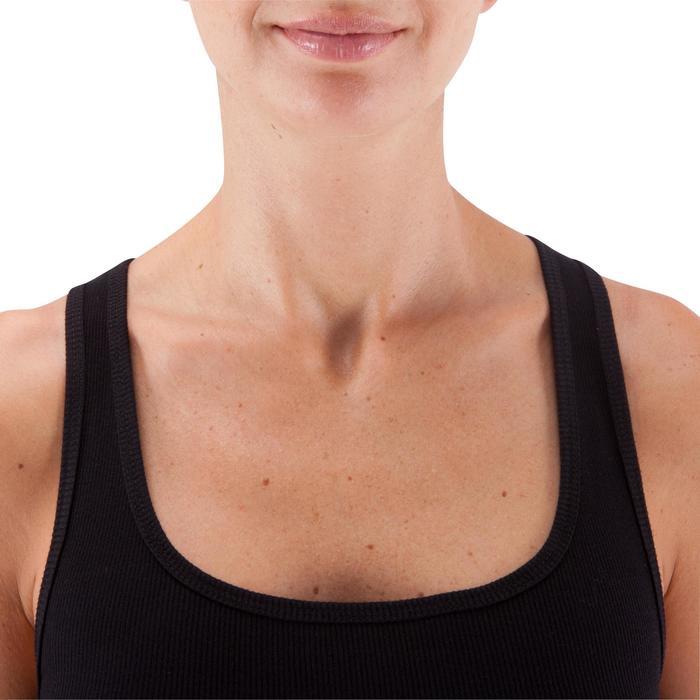 Camiseta sin mangas 500 Pilates y Gimnasia suave mujer negro