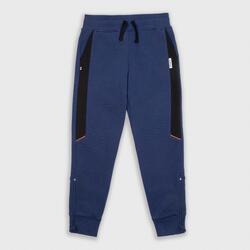 中階兒童款籃球褲P500-海軍藍配黑色