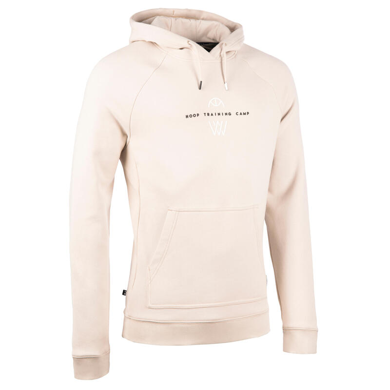 Men's Basketball Hooded Sweatshirt H100 - Beige Training Camp