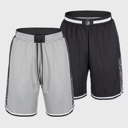 Men's Reversible Basketball Shorts SH500R - Grey/Black