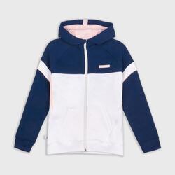 Boys'/Girls' Basketball Jacket J500 - Navy Blue/White
