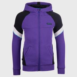 Boys'/Girls' Basketball Jacket J500 - Purple/Black