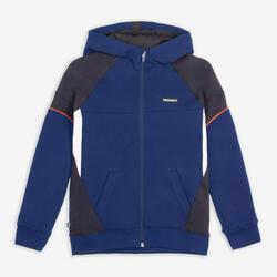 兒童款籃球外套J500 - 海軍藍配黑色