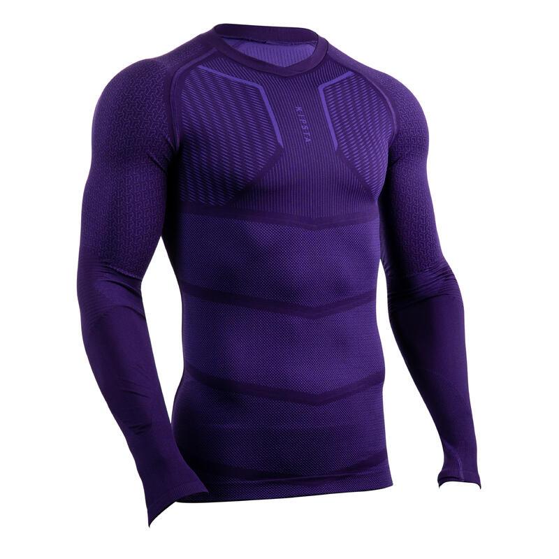 Sous-vêtement Keepdry 500 adulte manches longues football violet