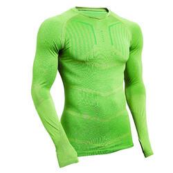 Thermoshirt Keepdry 500 lange mouw unisex groen