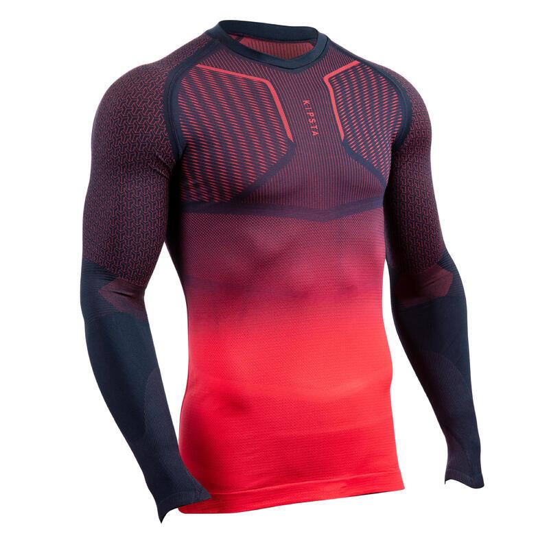 Sous-vêtement Keepdry 500 adulte manches longues football bleu rose