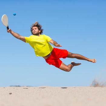 Beach-Tennisball rosa/gelb