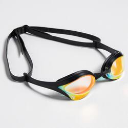 Zwembril Cobra Swipe goudkleurig spiegelglazen