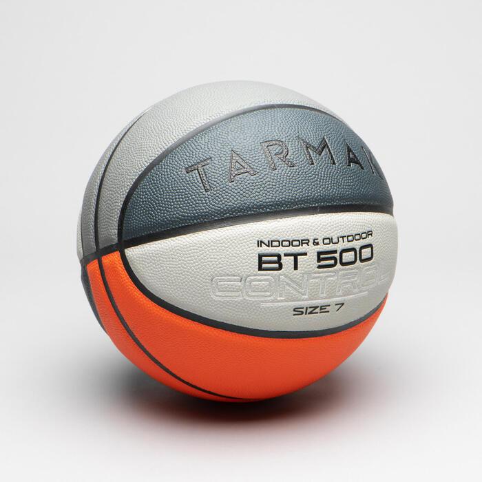 Basketball BT500 Größe 7 ab 13 Jahren orange/grau