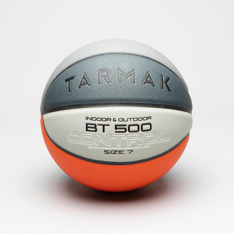 Basketbal voor heren en jongens vanaf 13 jaar BT500 maat 7 oranje/grijs
