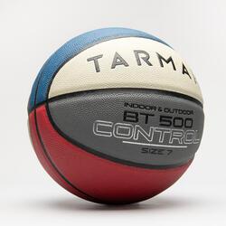Basketball BT500 Größe 7 Kinder ab 13 Jahren blau/weiss/rot