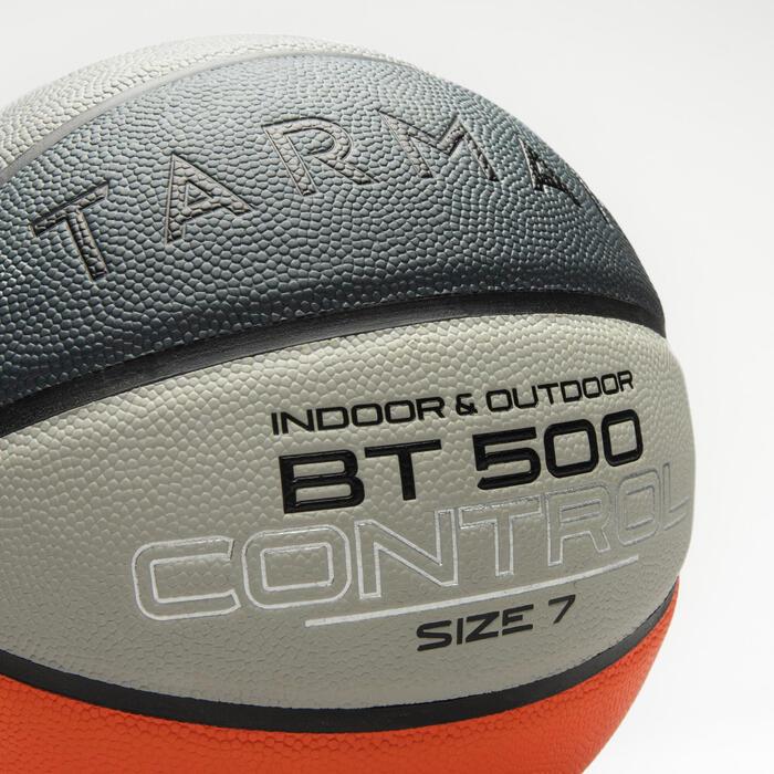 Ballon de basket BT500 taille 7 Orange Gris garçon et homme à partir de 13 ans.