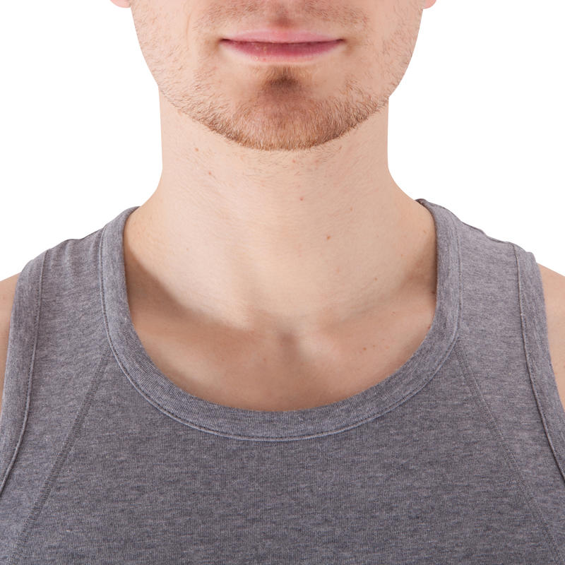 Dry Skin Bodybuilding Tank Top - Light Grey