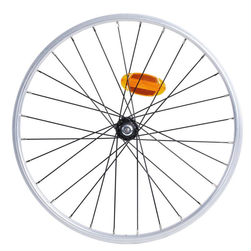 Roue vélo pliant tilt 500 avant simple parois argente