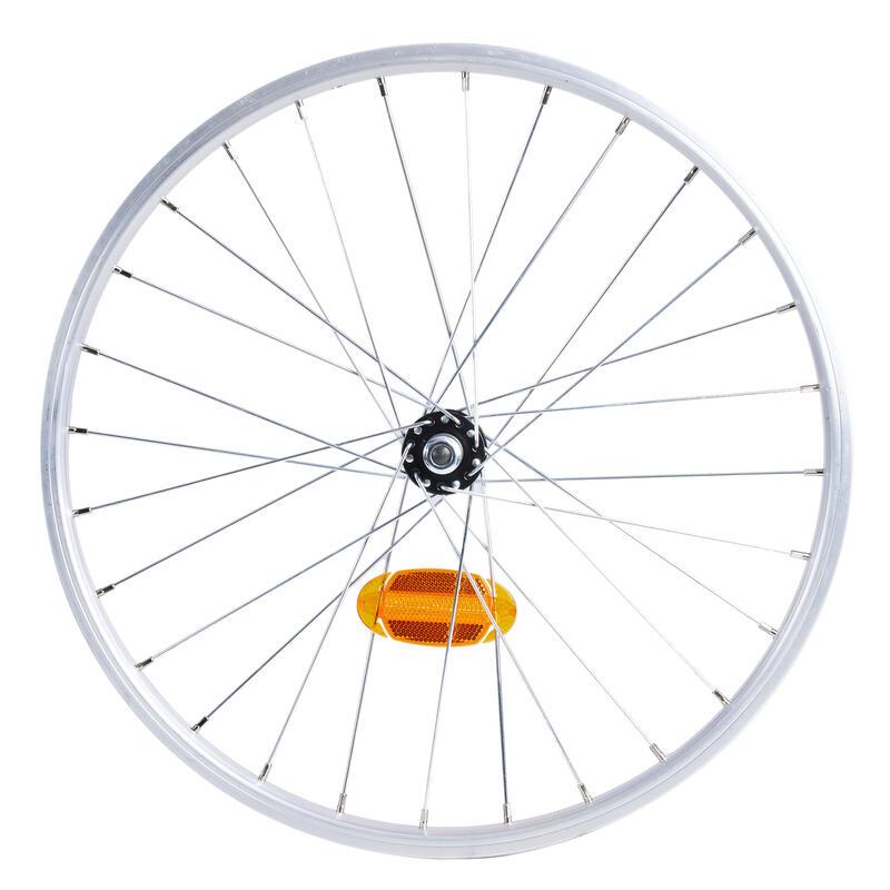 Roue vélo pliant 20 pouces simple parois argent Tilt 120