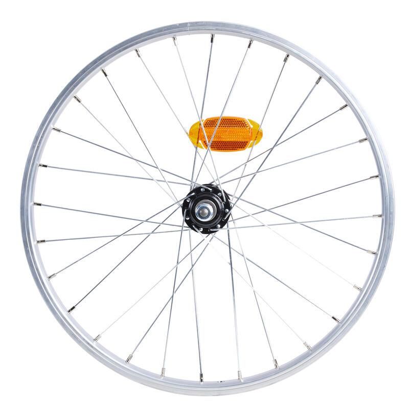 Roue vélo pliant 20 pouces arrière simple paroi Tilt 120 argente