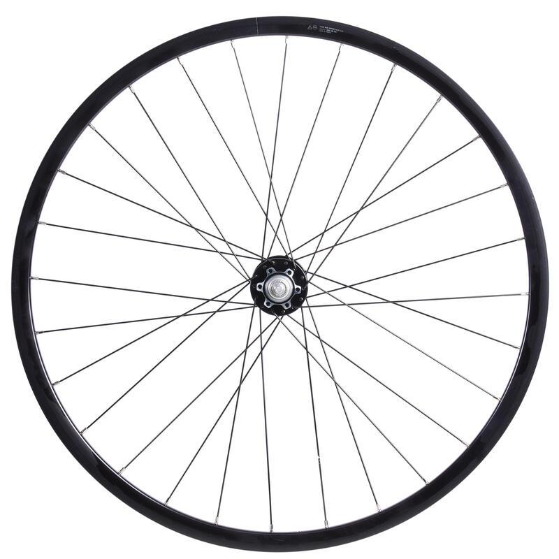 Roue vélo city speed 900 28 pouces avant double paroi disc noir