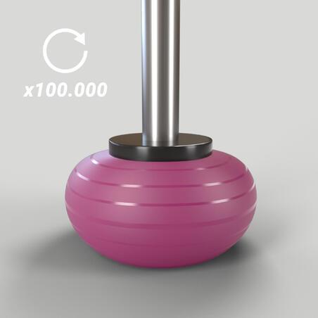 Durable Fitness Ball Size 3 - 75 cm - Burgundy