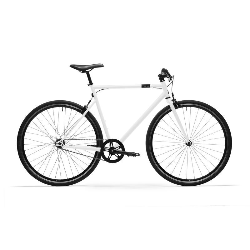 Bici città single speed ELOPS 500 bianca