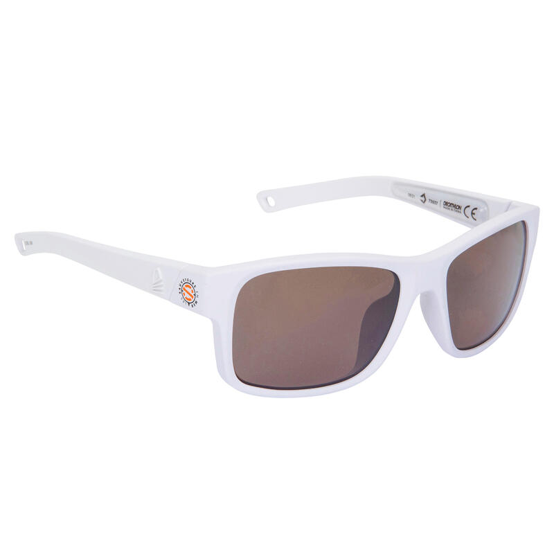 Gafas Sol Vela 100 SNSM Adulto Blanco Polarizadas Flotantes Talla M