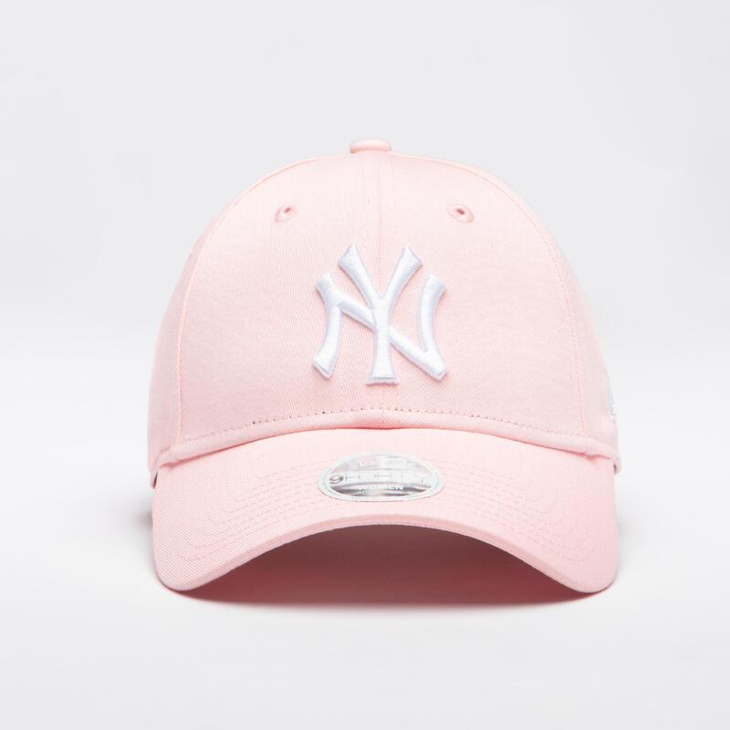 Baseballpet voor volwassenen MLB New Era 9FORTY New York Yankees roze/wit