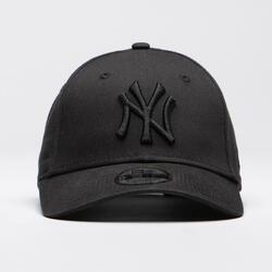 BONÉ DE BASEBOL MLB NEW ERA 9FORTY NEW YORK YANKEES ADULTO PRETO/PRETO