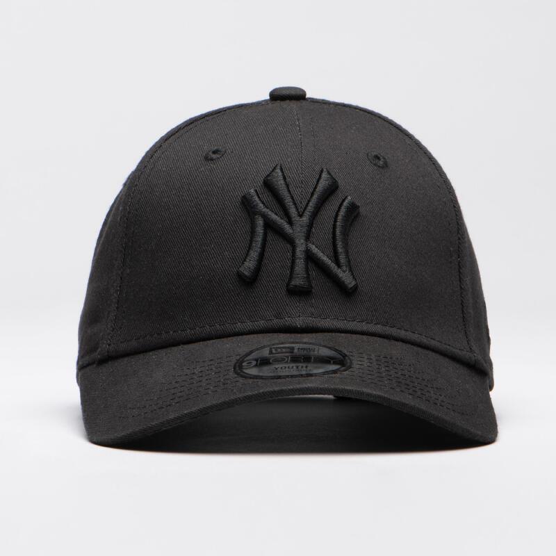 Baseballpet voor kinderen MLB New Era 9FORTY New York Yankees zwart/zwart