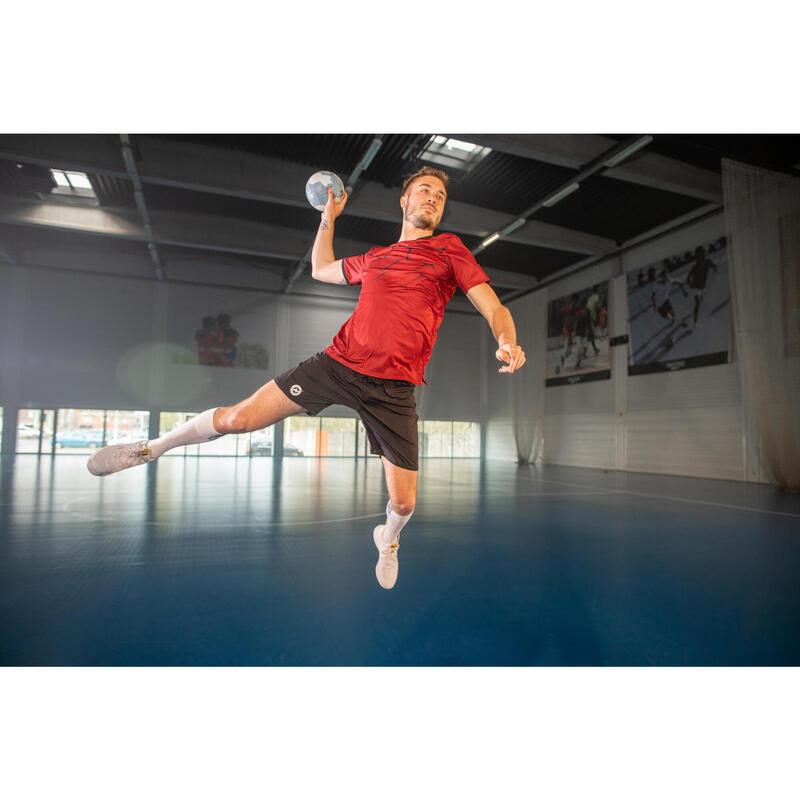 Maillot de handball H500 homme rouge / noir
