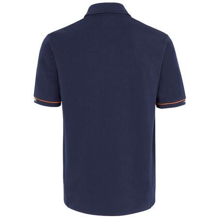 Men's Sailing Short Sleeve Polo Shirt SAILING 100 - Blue SNSM