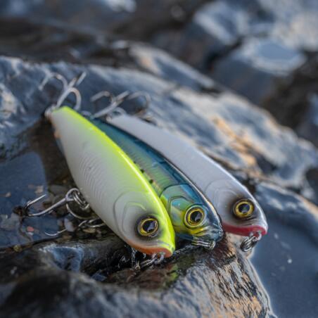 Lure fishing at sea Hard Lure WIZDOM 95F - Neon Yellow