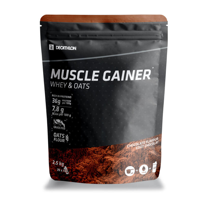 Mass Gainer Muscle Chocolate Whey & Avena 2,5 kg