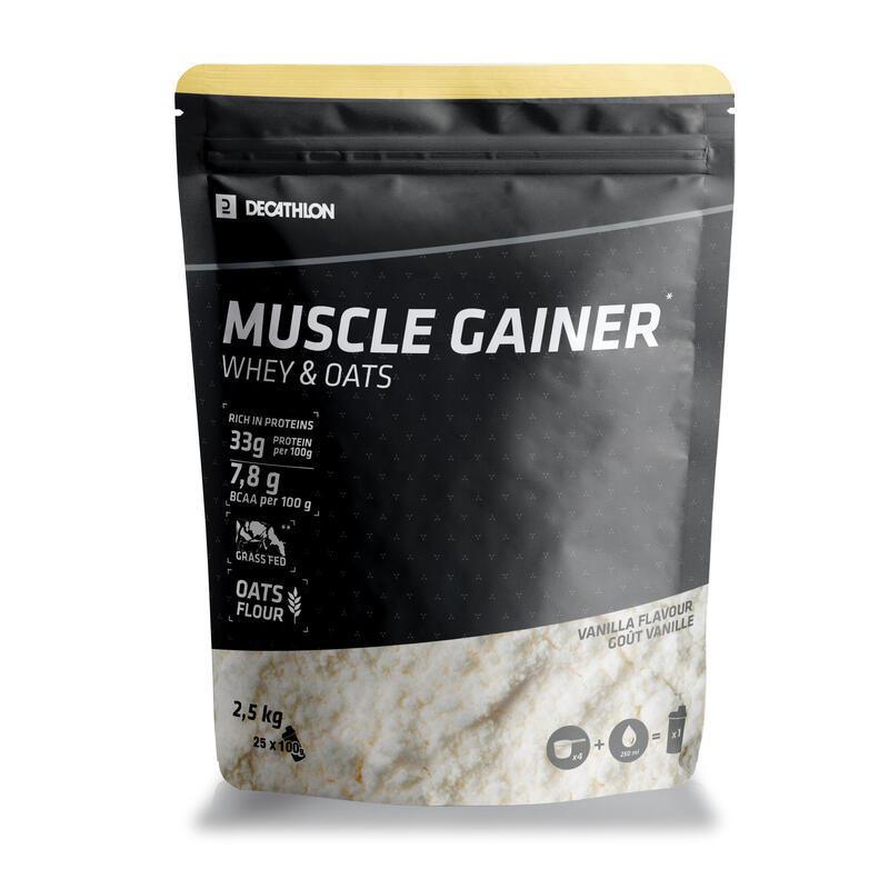 Mass Gainer Muscle Vainilla Whey & Avena 2,5 kg