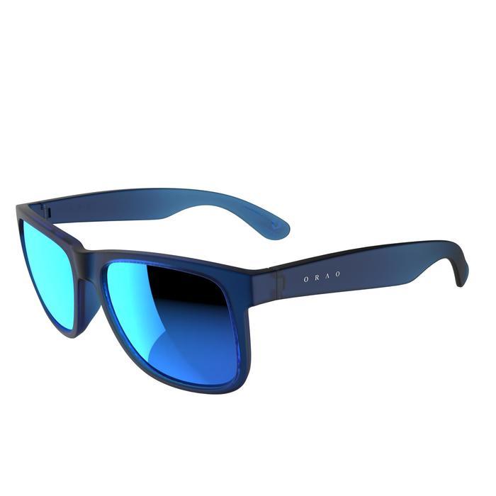 lunettes de soleil de marche sportive adulte WALKING 400 bleues catégorie 3 - 206983