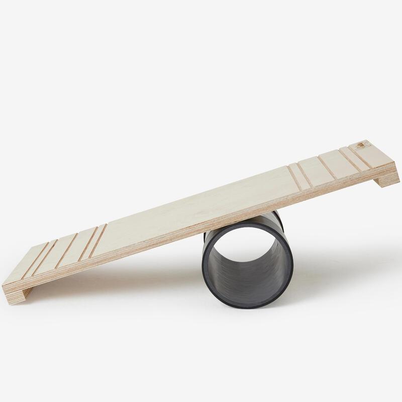 Rola bola: tablero y rodillo de equilibrio