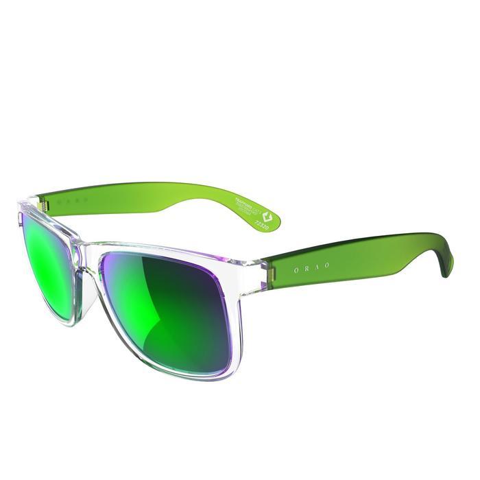 lunettes de soleil de marche sportive adulte WALKING 400 bleues catégorie 3 - 207008