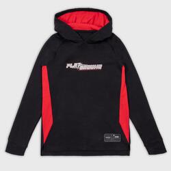 兒童款長袖連帽T恤 / 球衣TS500LS - 黑紅配色