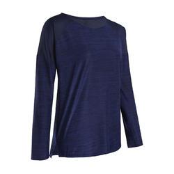 Women's Long-Sleeved Fitness Cardio Training T-Shirt - Blue