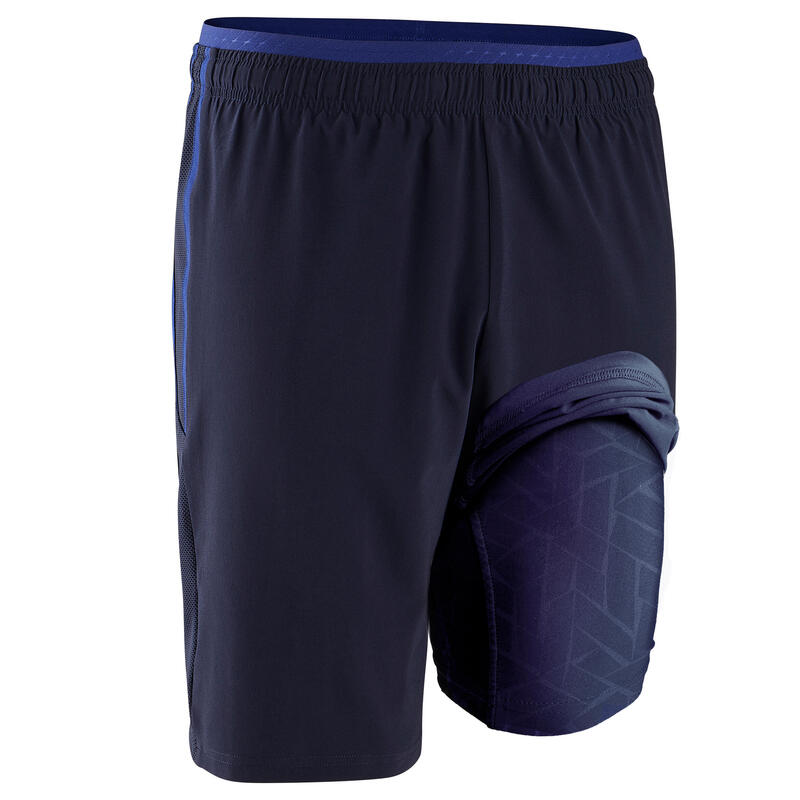 Pantaloncini 3 in 1 calcio TRAXIUM blu